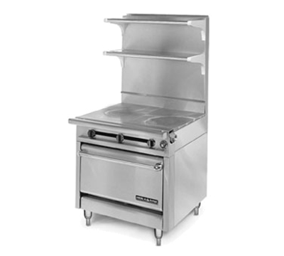 "American Range HD34-1FT-1HT-1C 34"" Gas Range with Griddle & Hot Top, NG"