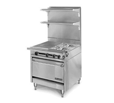 "American Range HD34-1FT-2-1C 34"" 2-Burner Gas Range with French Top, NG"