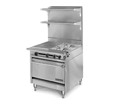 "American Range HD34-1HT-2-1 34"" 2-Burner Gas Range with Hot Top, LP"