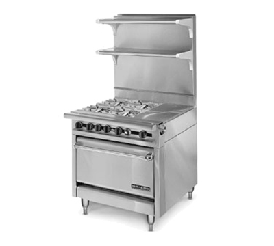 "American Range HD34-1HT-4-1C 34"" 4-Burner Gas Range with Hot Top, NG"