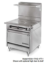 "American Range HD34-23TG-1HT-1C 34"" Gas Range with Griddle & Hot Top, LP"