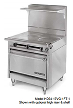 "American Range HD34-23TG-1HT-M 34"" Gas Range with Griddle & Hot Top, LP"