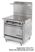 "American Range HD34-23VG-1HT-1C 34"" Gas Range with Griddle & Hot Top, NG"