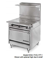 "American Range HD34-23VG-1HT-M 34"" Gas Range with Griddle & Hot Top, NG"