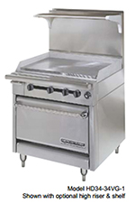 "American Range HD34-23VG-2-M 34"" 2-Burner Gas Range with Griddle, NG"