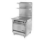 "American Range HD34-2HT-M 34"" Gas Range with Hot Top, NG"