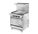"American Range HD34-34PG-M 34"" Gas Range with Griddle, LP"