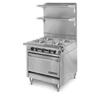 "American Range HD34-4-1C 34"" 4-Burner Gas Range, LP"