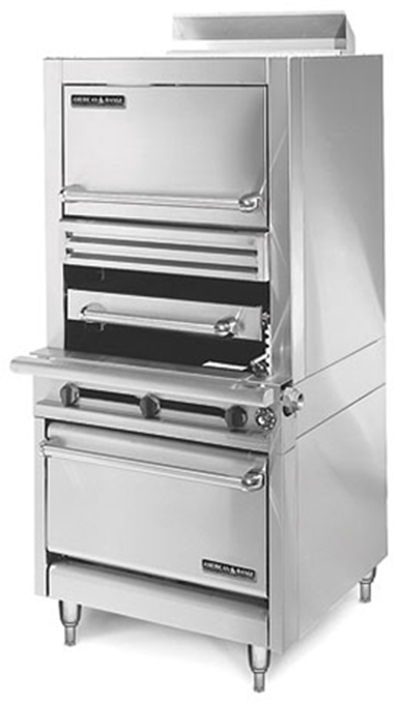 American Range HDIR34-1C LP Infrared Broiler w/ 1-Deck & Convection Oven, 120000-BTU, LP