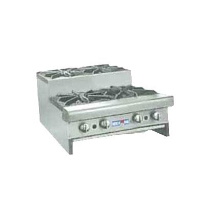 """American Range SUHP24-4 LP 24"""" Countertop Hotplate w/ 4-Burners, Manual, 128000-BTU, LP"""