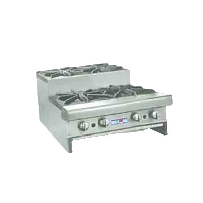 "American Range SUHP24-4 NG 24"" Countertop Hotplate w/ 4-Burners, Manual, 128000-BTU, NG"