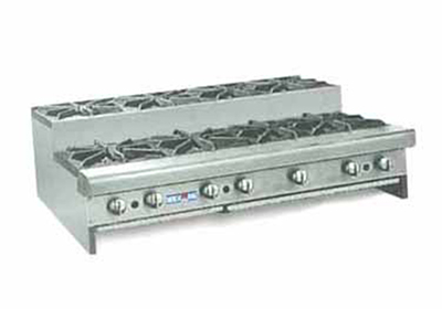 American Range SUHP488NG 48-in Step-Up Hotplate w/ 8-Burners, Manual, Counter, NG