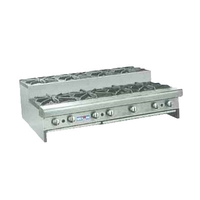 "American Range SUHP488LP 48"" Step-Up Hotplate w/ 8-Burners, Manual, Counter, LP"