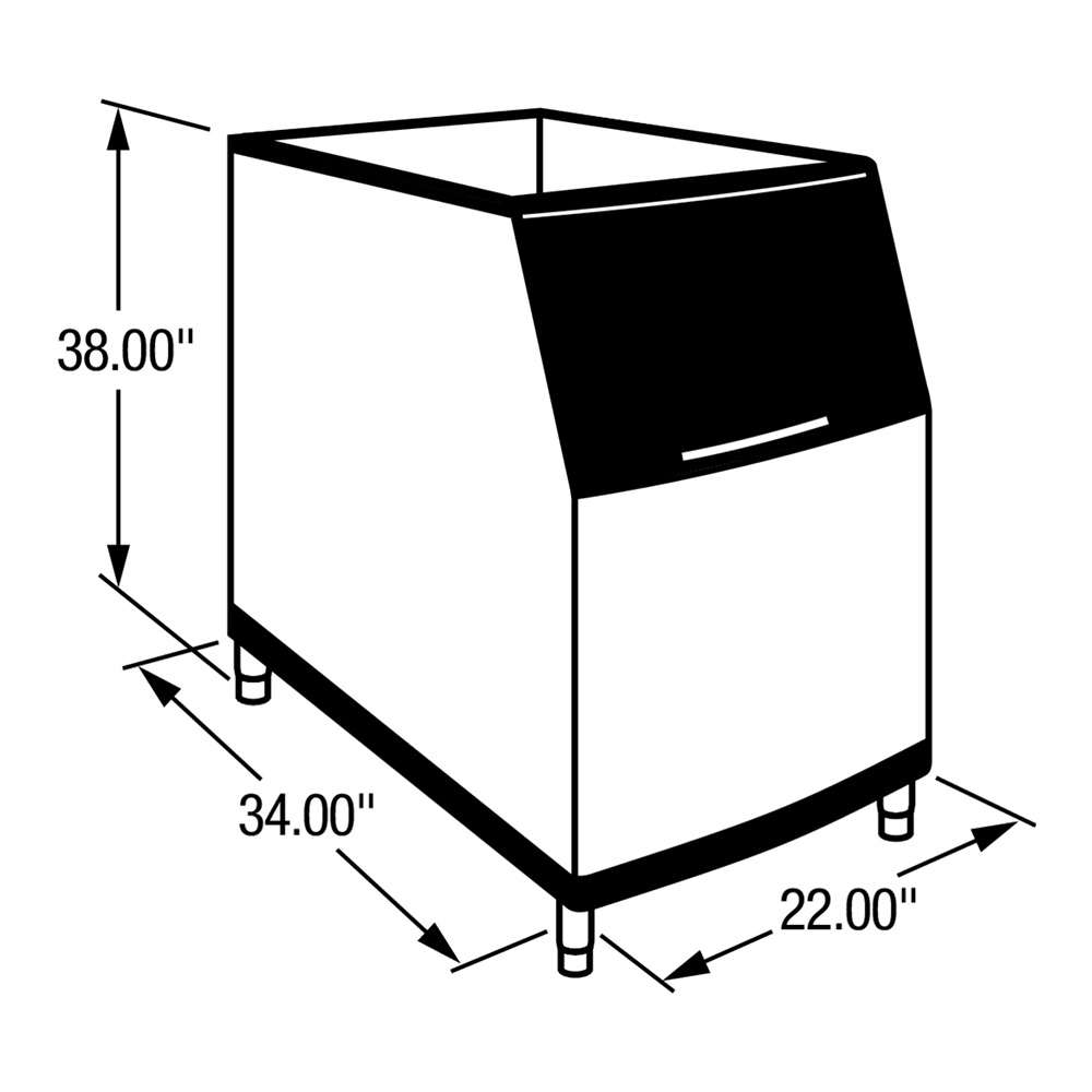 "Manitowoc Ice B-320 22"" Wide 210-lb Ice Bin with Lift Up Door"