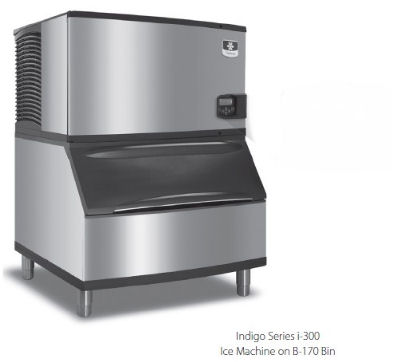 Manitowoc Ice ID0302AB400 310-lb/Day Full Cube Ice Maker w/ 290-lb Bin, Air Cooled, 115v