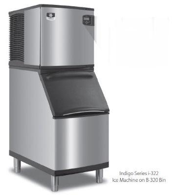 Manitowoc Ice ID0322A161B320 335-lb/Day Full Cube Ice Maker w/ 210-lb Bin, Air Cooled, 115v