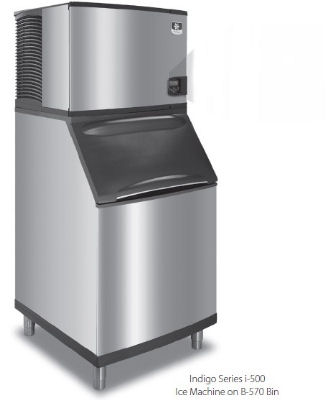 Manitowoc Ice ID0502A161B570 530-lb/Day Full Cube Ice Maker w/ 430-lb Bin, Air Cooled, 115v