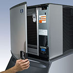 Manitowoc Ice ID0502A161B570 530-lb/Day Full Cube Ice Maker w/ 430-lb Bin, Air Cooled, 115v
