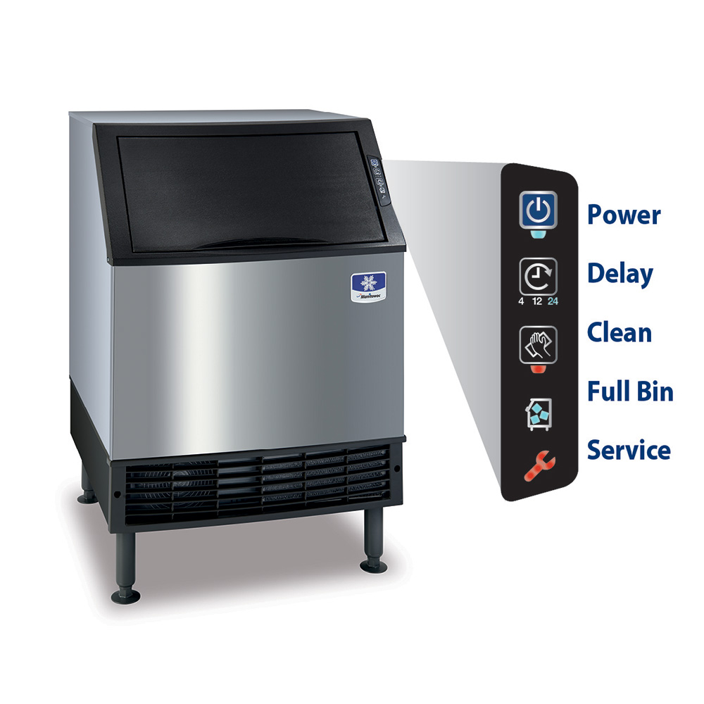 Manitowoc Ice UY-0190A Undercounter Half Cube Ice Maker - 193-lbs/day, Air Cooled, 115v