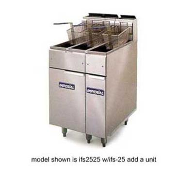 Imperial IFS-2525 Gas Fryer - (2) 25-lb Vat, Floor Model, LP