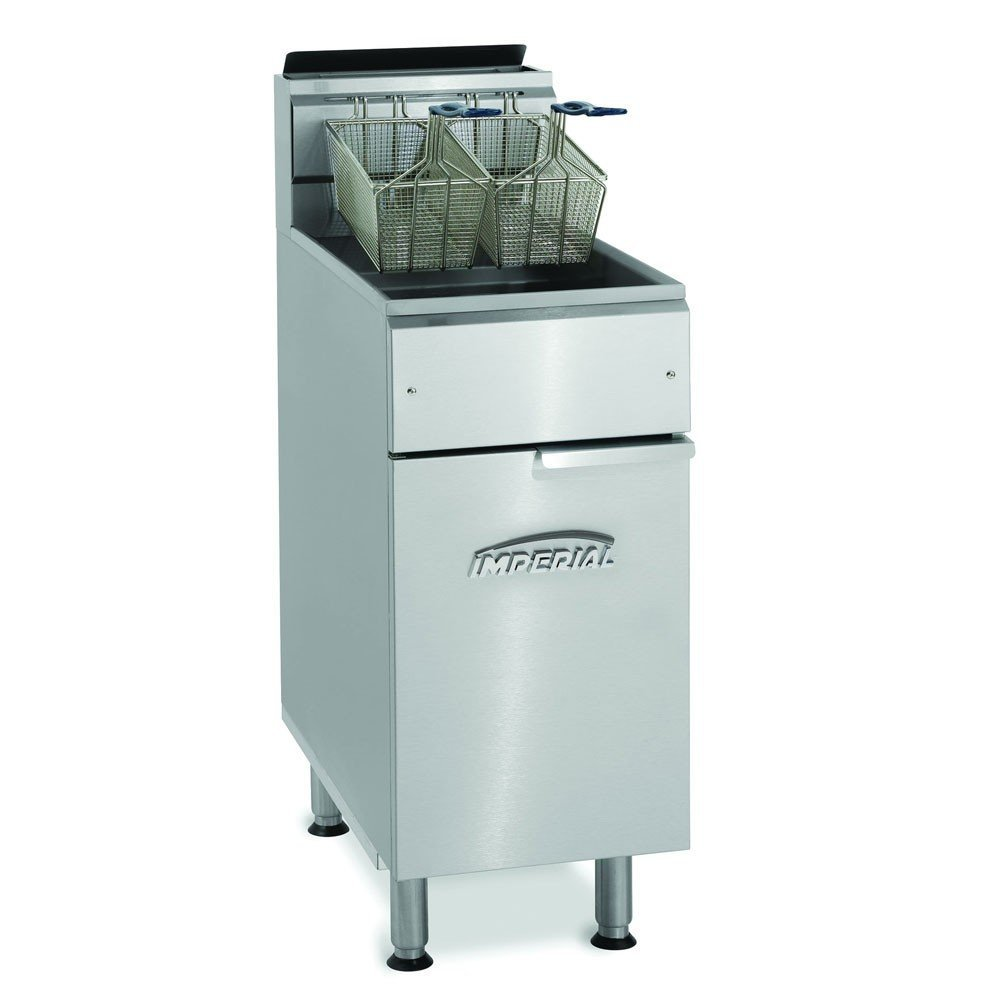 Imperial IFS-50-OP LP Gas Fryer - (1) 50-lb Vat, Floor Model, LP