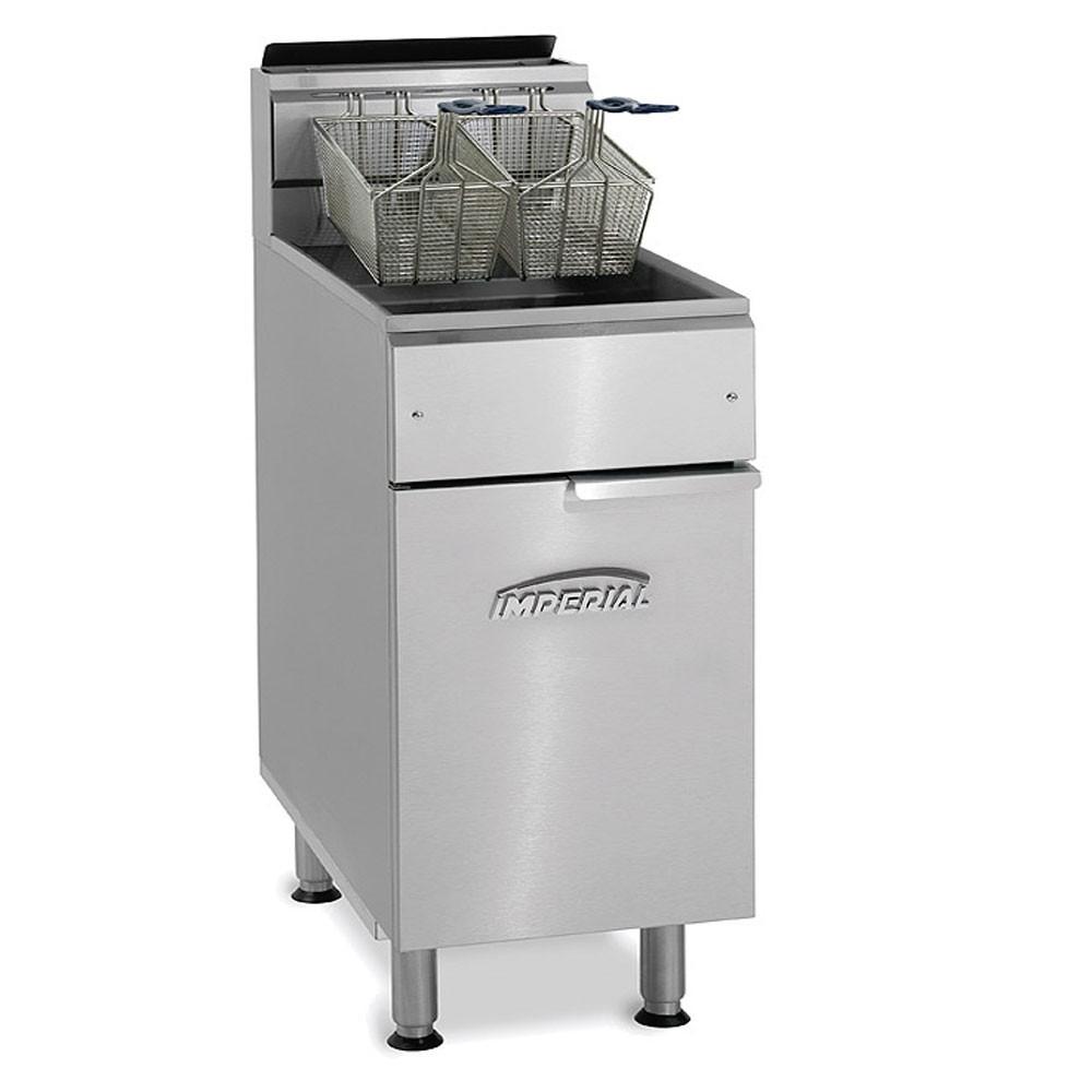Imperial IFS-75-OP LP Gas Fryer - (1) 75-lb Vat, Floor Model, LP