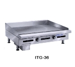 Imperial ITG-24 NG 24-in Countertop Griddle w/ Polished Steel Plate, Thermostatic, NG