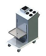 Piper Products 1ATCA-SN Mobile Tray Silverware Napk