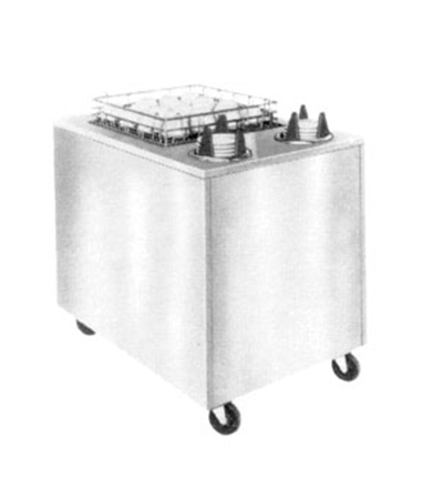 Piper Products ACS-ST-1420 Mobile Cup Saucer Dispenser, Cabinet Style, Single Rack, 14x20-in, Stainless