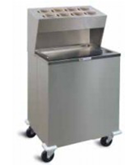 Piper Products AT-ST2 Mobile Cabinet Style Tray Dispenser w/ Duel Self-Elevating Platform, Stainless