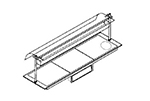 Piper Products B37060-HS Built-In Hot Plate w/ Hot Spot, 3-Section, Support Angles, 71.18x27.56-in