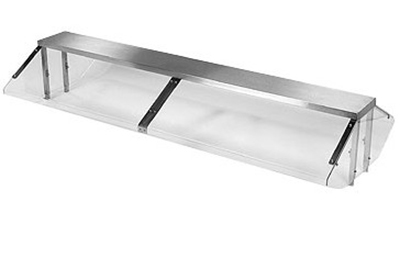 Piper Products BPGFL-74 74-in Buffet Style Protector Guard W/ Fluorescent Lights, 5-Opening