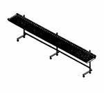 Piper Products CSC-4 4-ft Mobile Conveyor Tray Make-Up, Cantilever Style
