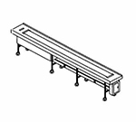 Piper Products FABRIC-10 10-ft Conveyor Tray Make-Up w/ Single Fabric Belt, Variable Speed Drive Motor