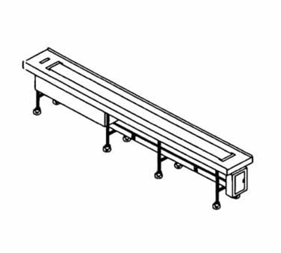 Piper Products FABRIC-18 18-ft Conveyor Tray Make-Up w/ Single Fabric Belt, Variable Speed Drive Motor