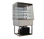 "Piper Products OTR-3 58"" Countertop Refrigeration w/ Pass Thru Access - Swing Door, Stainless, 208v/1ph"