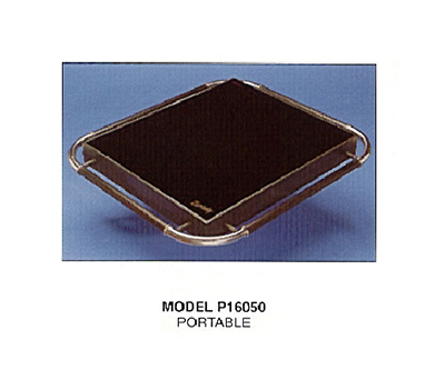 Piper Products P16050-HS 29.5-in Portable Hot Plate w/ Single Section & Hot Spot, Pyroceramic Top
