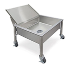 Piper Products 337-3474 Undercounter Portable Soak Sink w/ Silver Chute, 24x24x8-in Bowl, Stainless