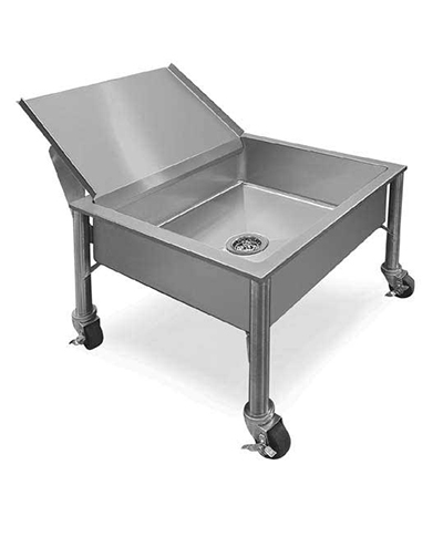 Piper Products 337-3477 Undercounter Portable Soak Sink w/ 24x24x8-in Bowl, Stainless