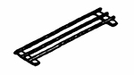Piper Products R3BTS-28 12-in Tray Slide For 28-in Unit w/ 1-Opening, 3-Bar, Stainless