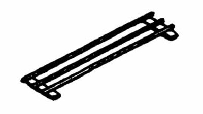 Piper Products R3BTS-50 12-in Tray Slide For 50-in Unit w/ 3-Opening, 3-Bar, Stainless