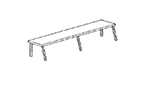 Piper Products ROHS-60 14-in Cafeteria Style Overhead Shelf For 60-in Unit w/ 4-Opening