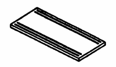Piper Products RSRTS-96 12-in Solid Ribbed Tray Slide For 96-in Unit, Stainless