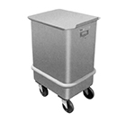 Piper Products 47-250 Mobile Ingredient Bin w/ 250-lb Capacity & Sliding Cover, Stainless