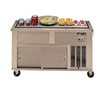 Piper Products 5-FT 74-in Mobile Top Serving Counter w/ 5-Pan Capacity, Modular, Mechanically Cooled