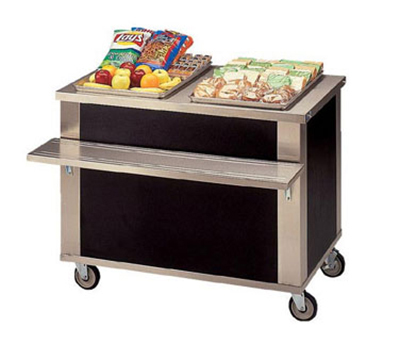 Piper Products 2-CU 32-in Mobile Beverage Counter w/ Deep Drain Trough & Grate, Modular