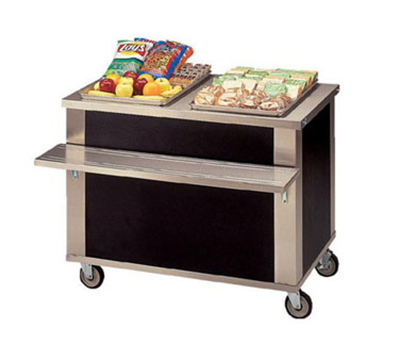Piper Products 3-CU 46-in Mobile Beverage Counter w/ Shelf, Modular, Stainless