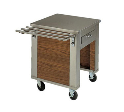 Piper Products 2-CR 28-in Mobile Corner Serving Counter w/ Undershelf, Modular, Stainless