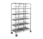 Piper Products 411-1148 Storage Cart w/ (100) 9-in Dome Capacity, Aluminum