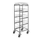 Piper Products 411-1484 Storage Cart w/ 50-Dome Capacity & 5-Cradles, Underliner